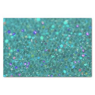 Aquamariner blauer Glitter Seidenpapier