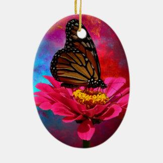 aquamariner böhmischer Schmetterling des Keramik Ornament