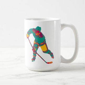 Aquamariner Eis-Hockey-Spieler, personalisierte Kaffeetasse