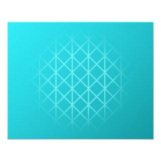 Aquamariner Farbhintergrund-Entwurf mit Gitterfeld 11,4 X 14,2 Cm Flyer