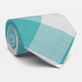 Aquamariner Gingham-Karo - diagonales Muster Krawatte