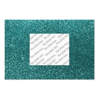Aquamariner Glitter Foto Druck