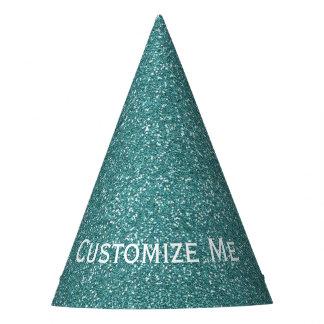 Aquamariner Glitter Partyhütchen