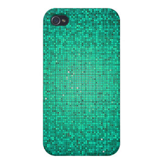 Aquamariner Glitzersequin-Disco iPhone 4/4s iPhone 4/4S Case