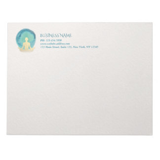 Aquamariner GoldWatercolor YOGA Meditations-Lehrer Notizblock