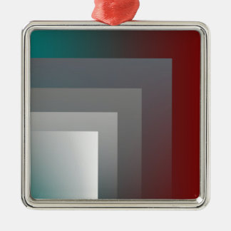 aquamariner grauer Burgunder Silbernes Ornament