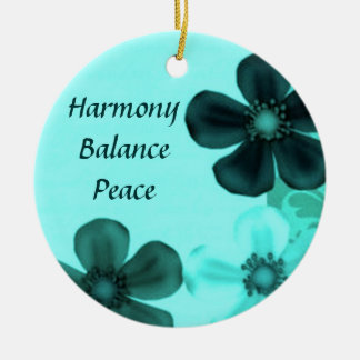 Aquamariner Harmonie-Balancen-Friedensrunde Rundes Keramik Ornament