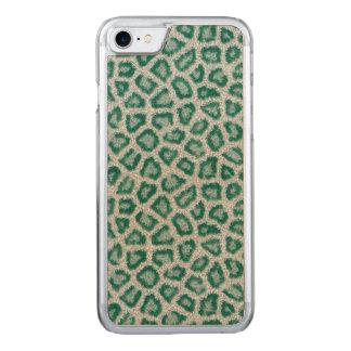 Aquamariner Leopard Carved iPhone 8/7 Hülle