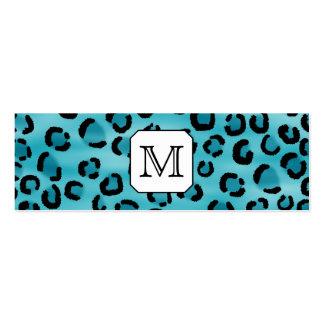 Aquamariner Leopard-Druck, kundenspezifisches Visitenkarte