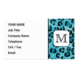 Aquamariner Leopard-Druck, kundenspezifisches Visitenkarten
