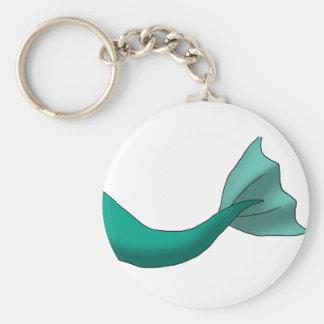 Aquamariner Meerjungfrau-Schwanz Standard Runder Schlüsselanhänger