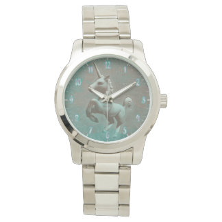 Aquamariner Stahl der Unicorn-Armbanduhr-| Armbanduhr
