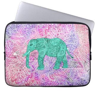 Aquamariner Stammes- Paisley-Elefant-lila Laptop Sleeve Schutzhülle