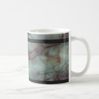 Aquamariner und lila Fluorit-Marmor Kaffeetasse