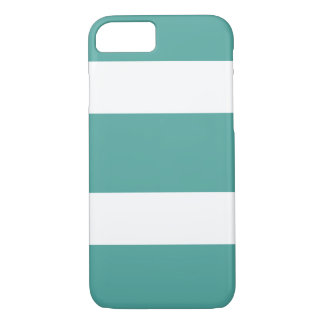 Aquamariner und weißer breiter gestreifter iPhone 8/7 hülle