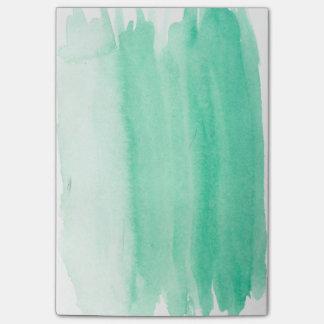 Aquamariner Watercolor-klebrige Anmerkungen Post-it Klebezettel