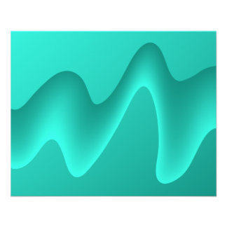 Aquamarines abstraktes Entwurfs-Bild 11,4 X 14,2 Cm Flyer