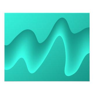 Aquamarines abstraktes Entwurfs-Bild Personalisierte Flyer