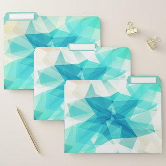 Aquamarines abstraktes Entwurfs-Datei-Ordner-Set Papiermappe