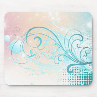 Aquamarines abstraktes mousepads