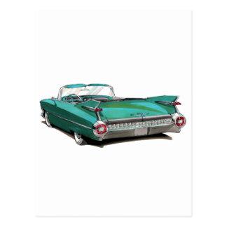 Aquamarines Auto 1959 Cadillacs Postkarte