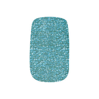 Aquamarines Blau Glitter.png Minx Nagelkunst