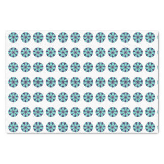 Aquamarines blaues kreisförmiges geometrischer seidenpapier