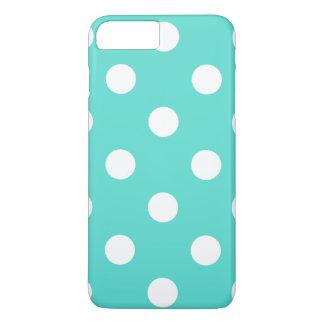 Aquamarines blaues Polka-Punkt-Muster iPhone 7 Plus Hülle