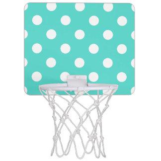 Aquamarines blaues Polka-Punkt-Muster Mini Basketball Netz