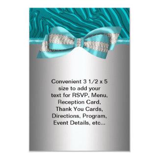 Aquamarines blaues Zebra-Schläger Mitzvah UAWG 8,9 X 12,7 Cm Einladungskarte