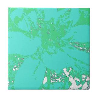 Aquamarines/Blue.Geen Blumendahlie-Blumen-Muster Kleine Quadratische Fliese