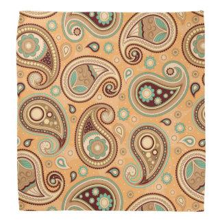 Aquamarines Braun des Paisley-Mustergelbs Halstuch