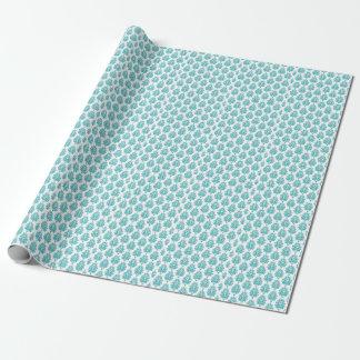 Aquamarines Damast-Verpackungs-Papier für Geschenkpapier
