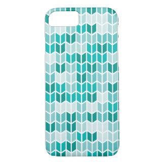 Aquamarines geometrisches Muster iPhone 7 Hülle