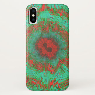 Aquamarines gewundenes psychedelisches iPhone x hülle