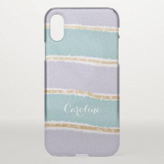 Aquamarines Gold des Girly Lavendels des Spaßes iPhone X Hülle