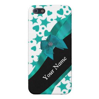 Aquamarines grünes hübsches spotty gemustertes iPhone 5 cover