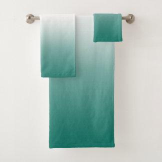 Aquamarines grünes Ombre Badhandtuch Set