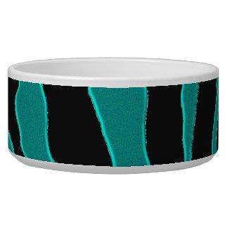 Aquamarines grünes Zebra-Monogramm-Tierdruck Napf