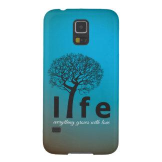 Aquamarines Inspirational Leben-Baum-Zitat Samsung S5 Hülle
