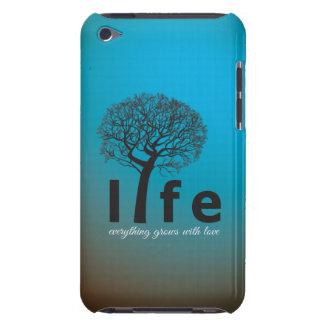 Aquamarines Inspirational Leben-Baum-Zitat Barely There iPod Case