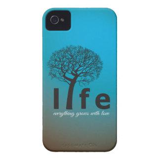 Aquamarines Inspirational Leben-Baum-Zitat Case-Mate iPhone 4 Hüllen