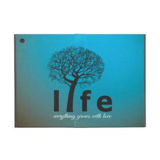 Aquamarines Inspirational Leben-Baum-Zitat iPad Mini Hülle