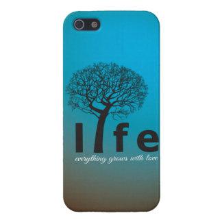 Aquamarines Inspirational Leben-Baum-Zitat Schutzhülle Fürs iPhone 5