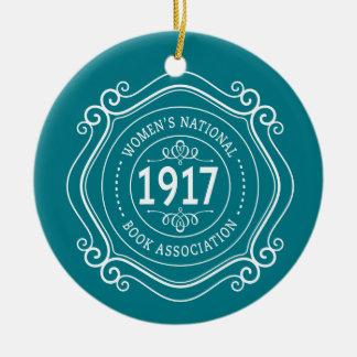 Aquamarines Jahrestags-Wappen der WNBA Rundes Keramik Ornament