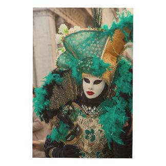 Aquamarines Karnevals-Kostüm, Venedig Holzleinwand