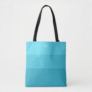 Aquamarines Monogramm der Kaskaden-  Tasche