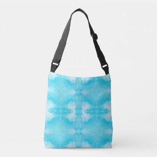 aquamarines Muster des Watercolor Tragetaschen Mit Langen Trägern