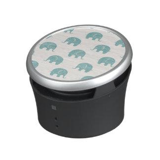 Aquamarines niedliches Elefant-Muster Lautspercher