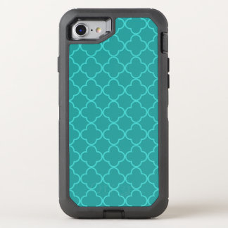 Aquamarines Quatrefoil OtterBox Defender iPhone 8/7 Hülle